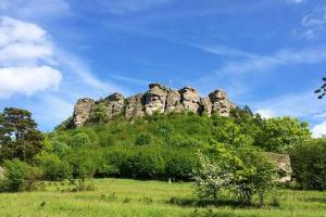 Staffelberg (trad. Plane Mountain), geoestrategic and sacred place where the M is placed.