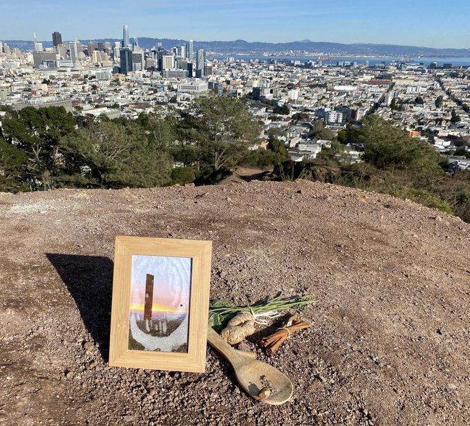 The memorial at the site of the gingerbread monolith.  Photo: J. D. Morris / @thejdmorris
