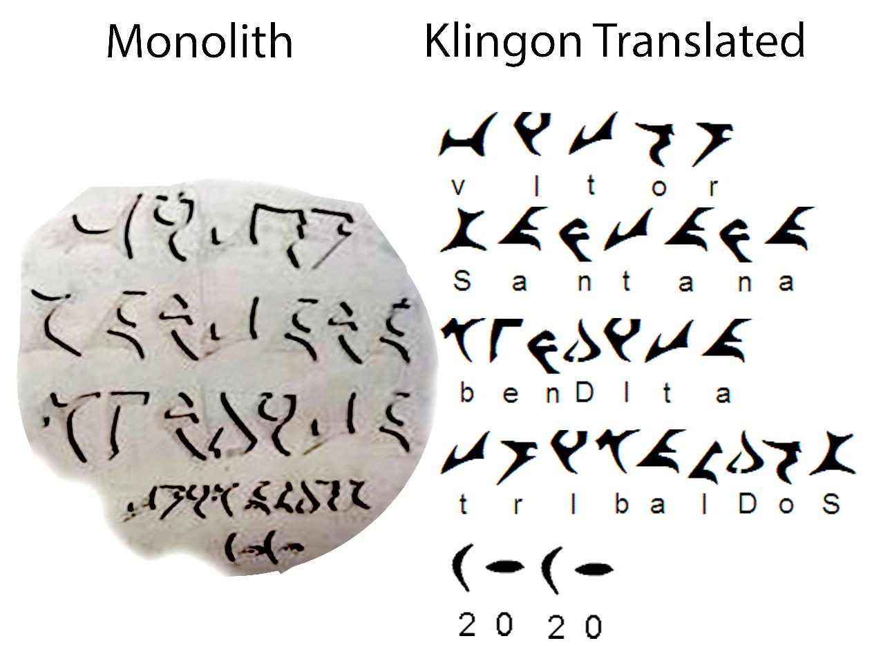 Visual Translation of the text on the Monolith.
