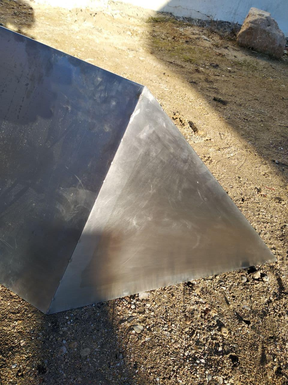 Top of the Monolith. There's an inner darker triangle, maybe a result of the welding.